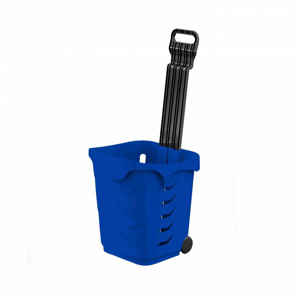 Panier 38L 2 roues bleu foncé PAN293 - Par 25