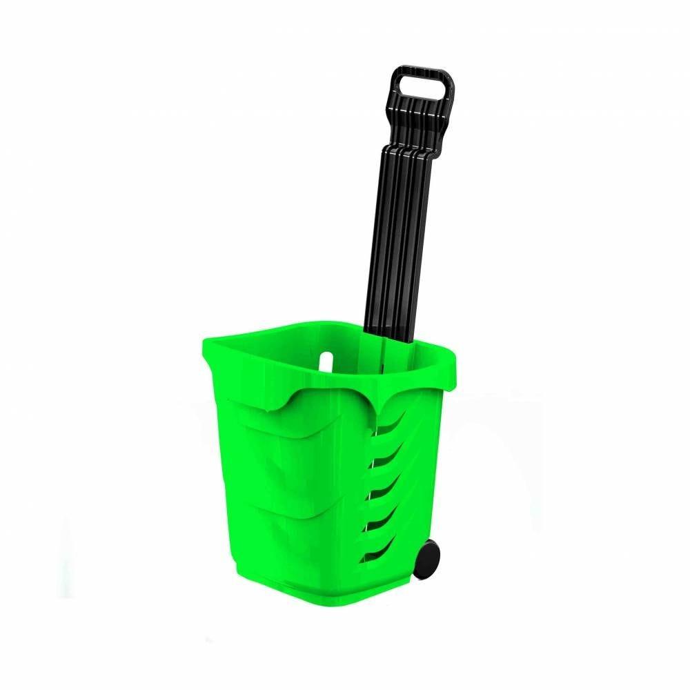 Panier 38L 2 roues vert fluo - Par 25