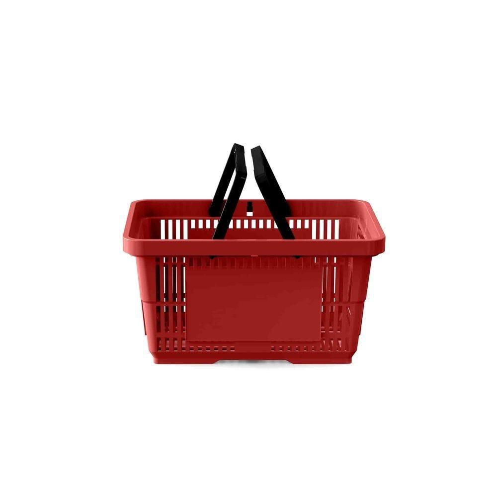 Panier 22 litres 2 anses rouge foncé PAN201 - Par 25