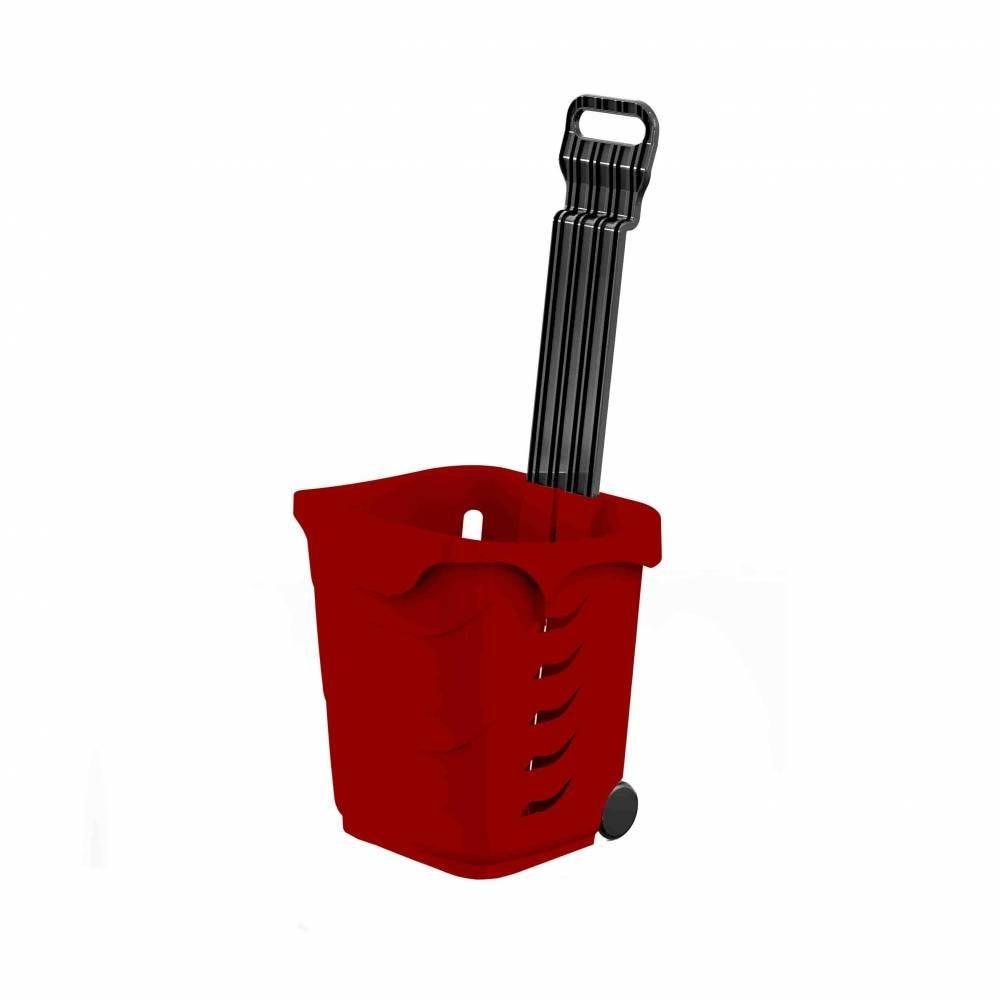 Panier 38L 2 roues rouge foncé PAN201 - Par 25