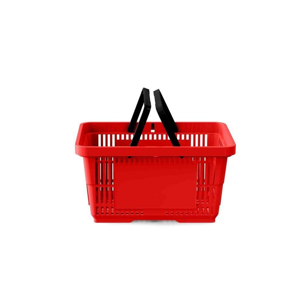 Panier 22 litres 2 anses rouge clair RAL3020 - Par 25