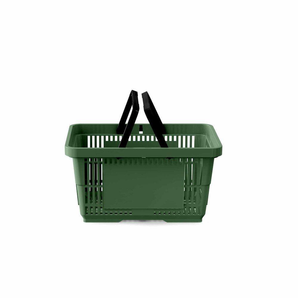 Panier 22 litres 2 anses vert foncé PAN357 - Par 25