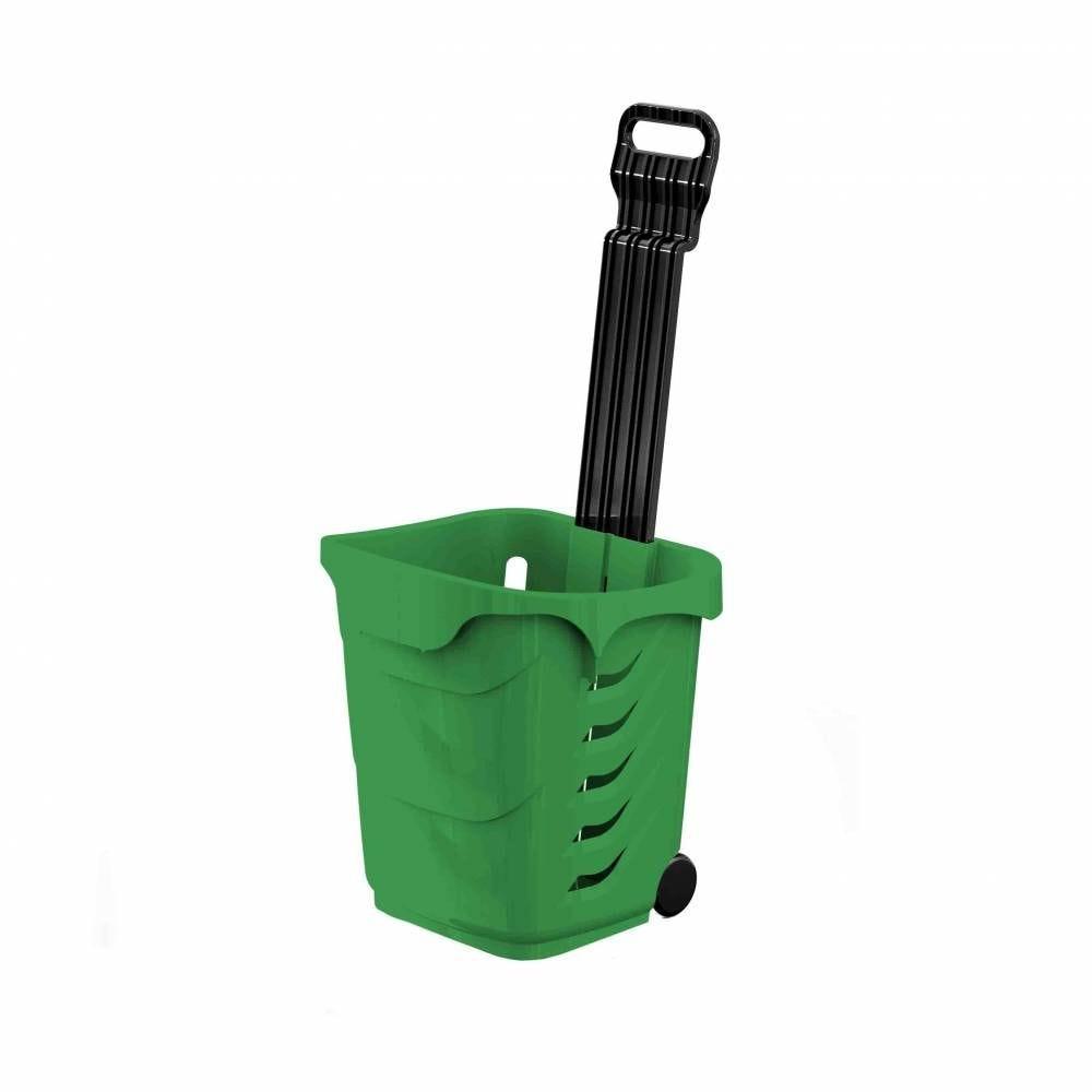 Panier 38L 2 roues vert clair PAN347 - Par 25
