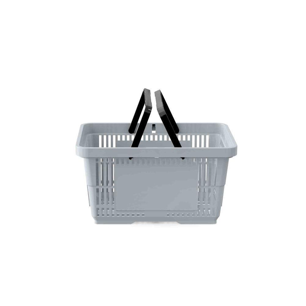 Panier 22 litres 2 anses gris clair pan429 - Par 25