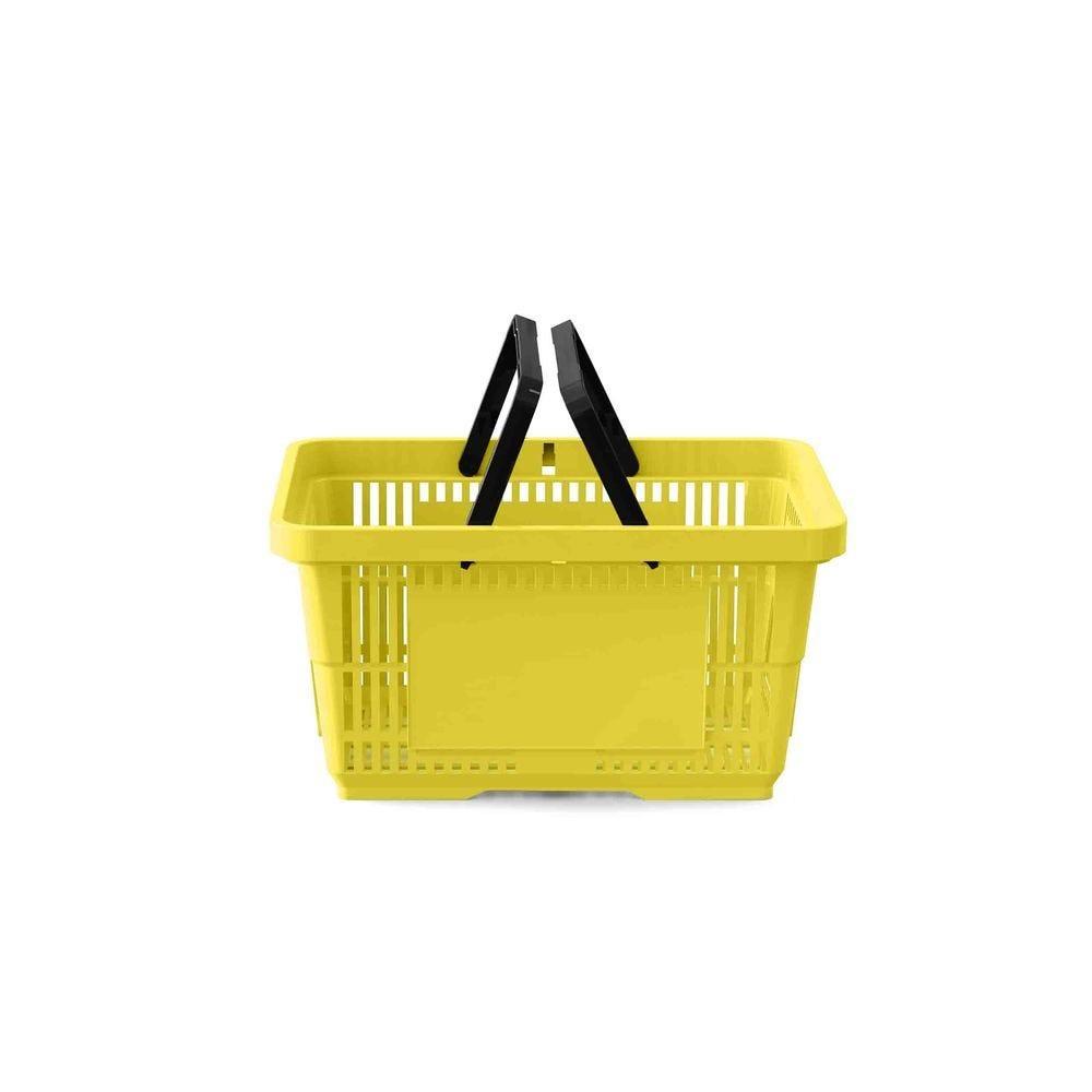 Panier 22 litres 2 anses jaune PAN012 - Par 25