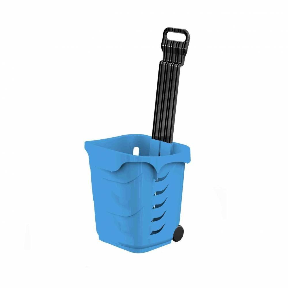 Panier 38L 2 roues bleu clair PAN299 - Par 25