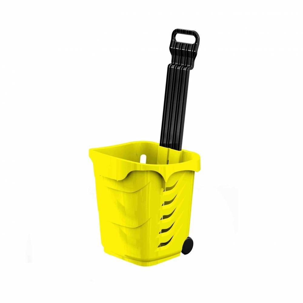 Panier 38L 2 roues jaune PAN012 - Par 25