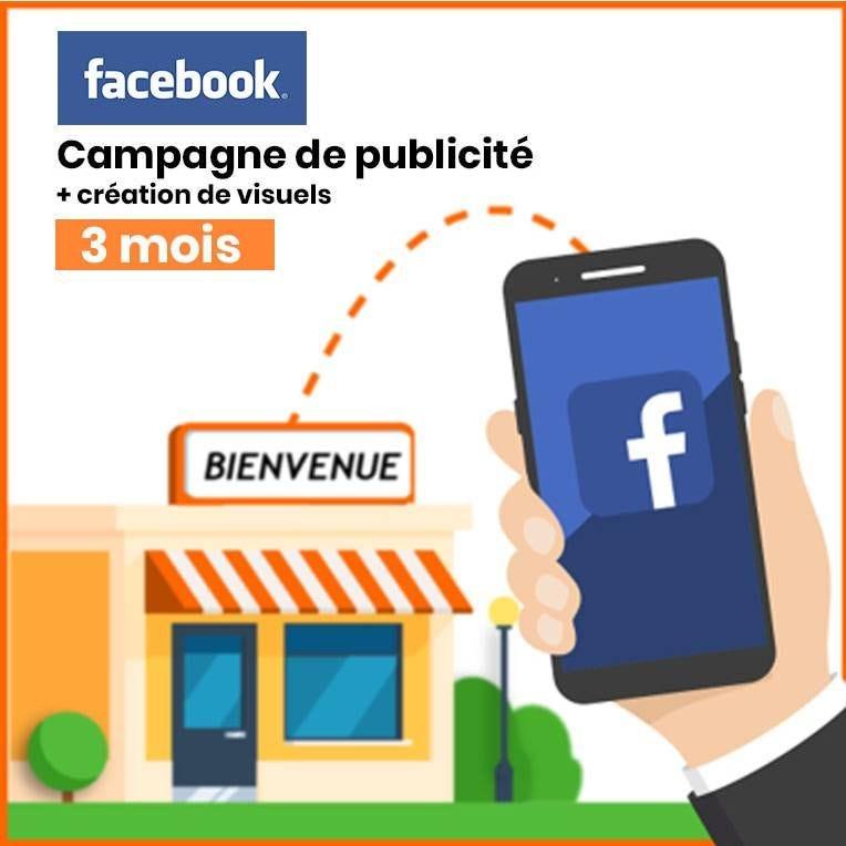Publicité locale Facebook & Instagram avec création 2 Visuels - Pack 3 mois