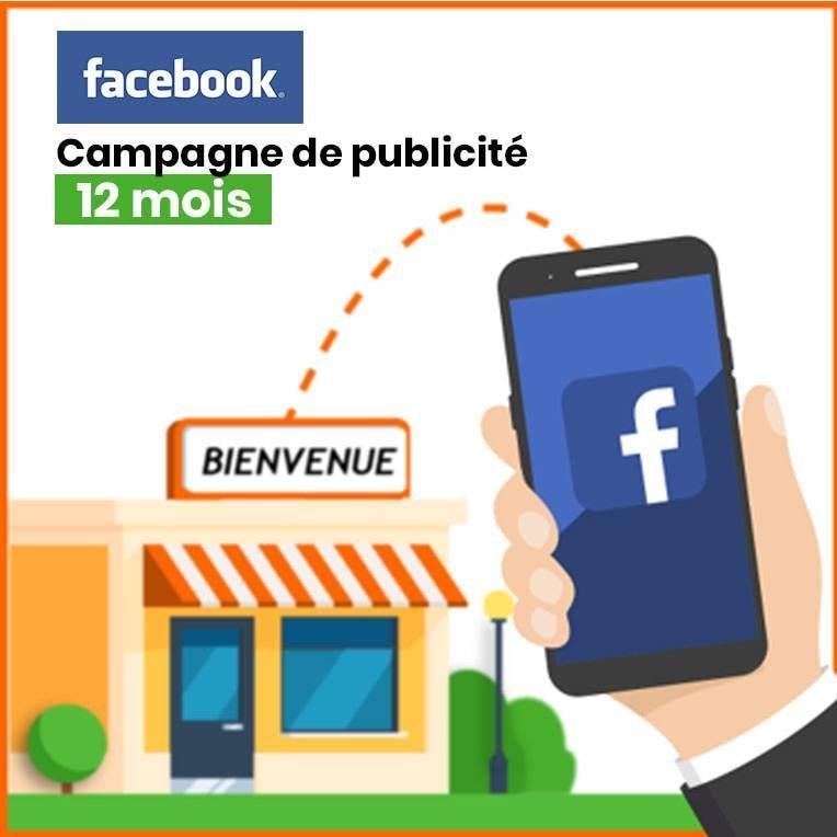 Attirer des clients avec la publicité locale Facebook & Instagram - Pack 12 mois