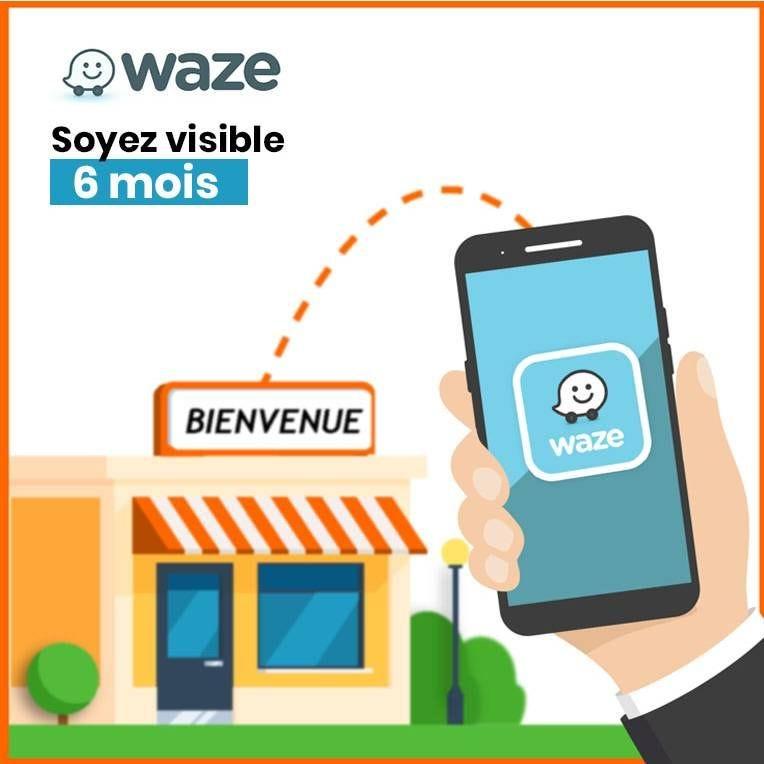 Assurez la présence de votre boutique sur Waze - Pack 6 mois (photo)