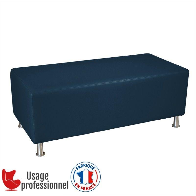 Banc DESIGN - CAPUCINE Bleu marine - Pieds alu brossé (photo)