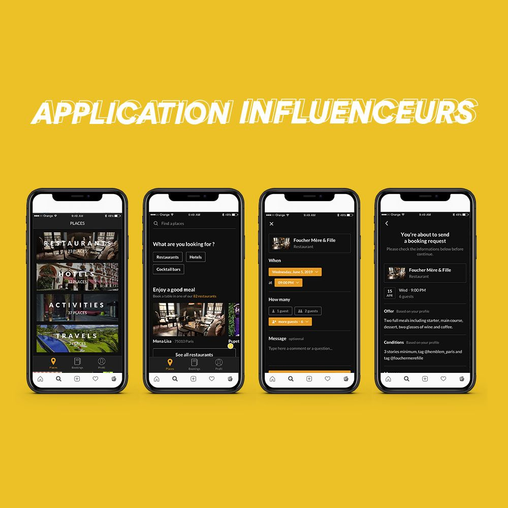 Application influenceurs (photo)