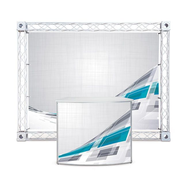 Kit de stand d'exposition ''Gitter Leicht'' - Impression incluse