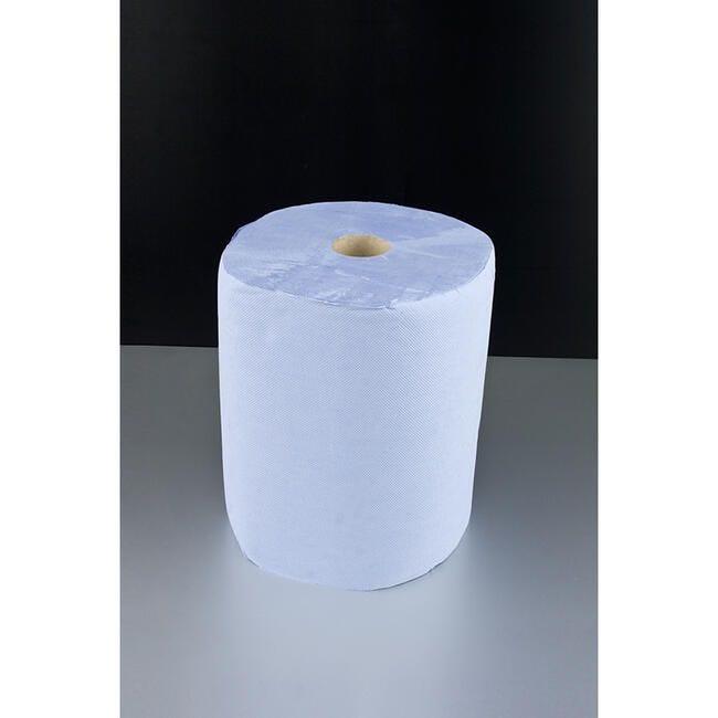 Bobine de papier essuie-tout bleu 2 plis / Lot de 2 bobines (photo)