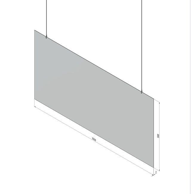 Suspension de protection en verre acrylique 'Spuckwand' 100 x 50 cm - Lot de 5
