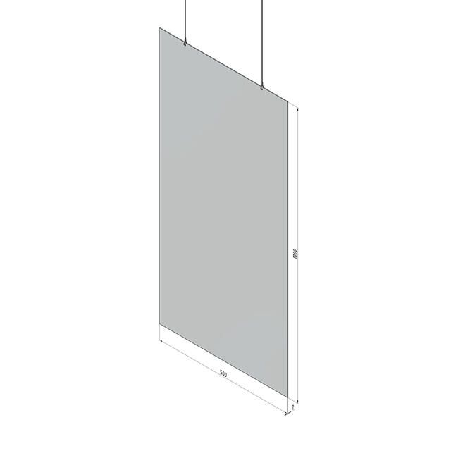 Suspension de protection en verre acrylique 'Spuckwand' 50 x 100 cm - Lot de 5