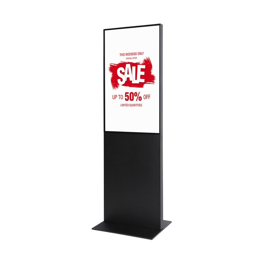 Totem digital 'Pro Infowall Single Slim' - Blanc 32 pouces