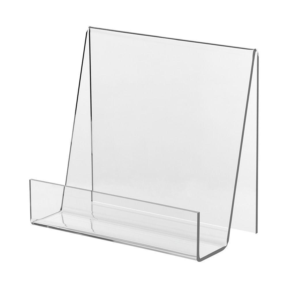 Appui-livre en verre acrylique - 21 x 20 cm - Lot de 2