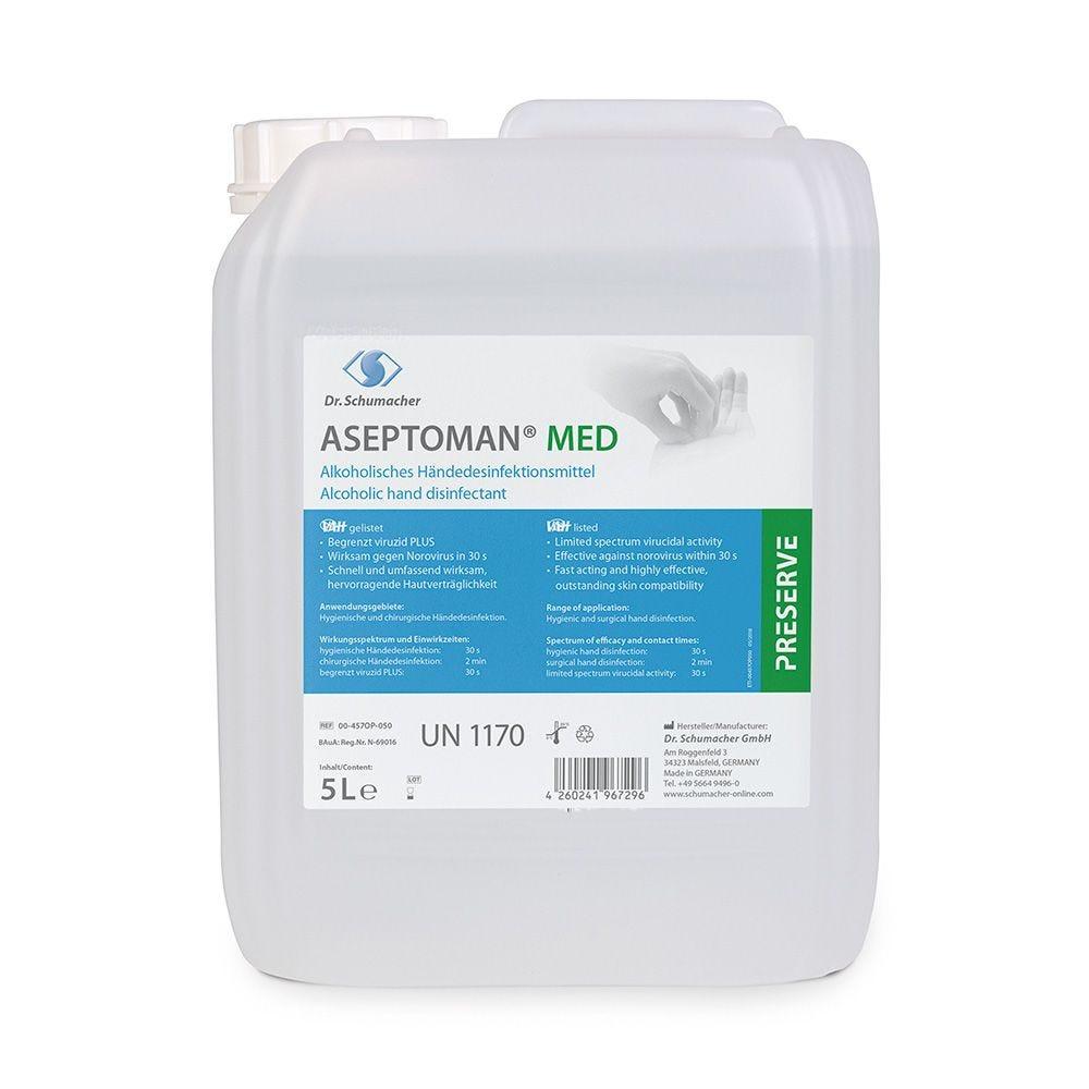 Désinfectant pour les mains ASEPTOMAN® - 5 litres