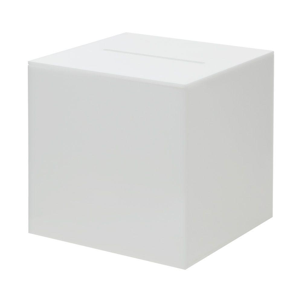 Urne en verre acrylique opaque 160 mm - Sans serrure