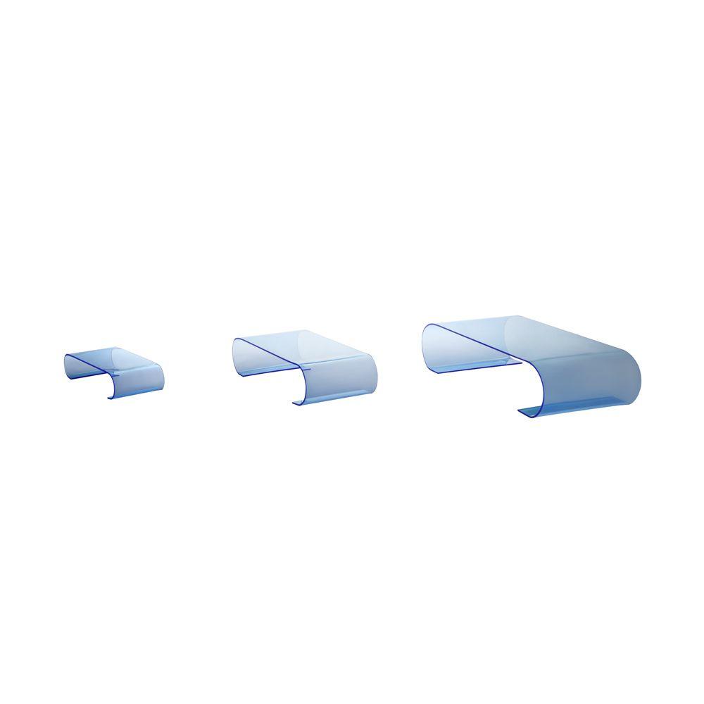 Présentoirs de table 'Calamus' - Bleu - 10x40x20 cm - lot de 3