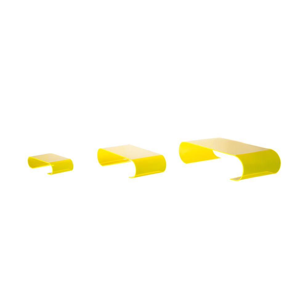 Présentoirs de table 'Calamus' - Jaune - 5x30x15 cm - lot de 3