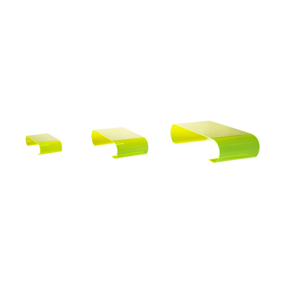 Présentoirs de table 'Calamus' - Vert - 10x40x20 cm - lot de 3
