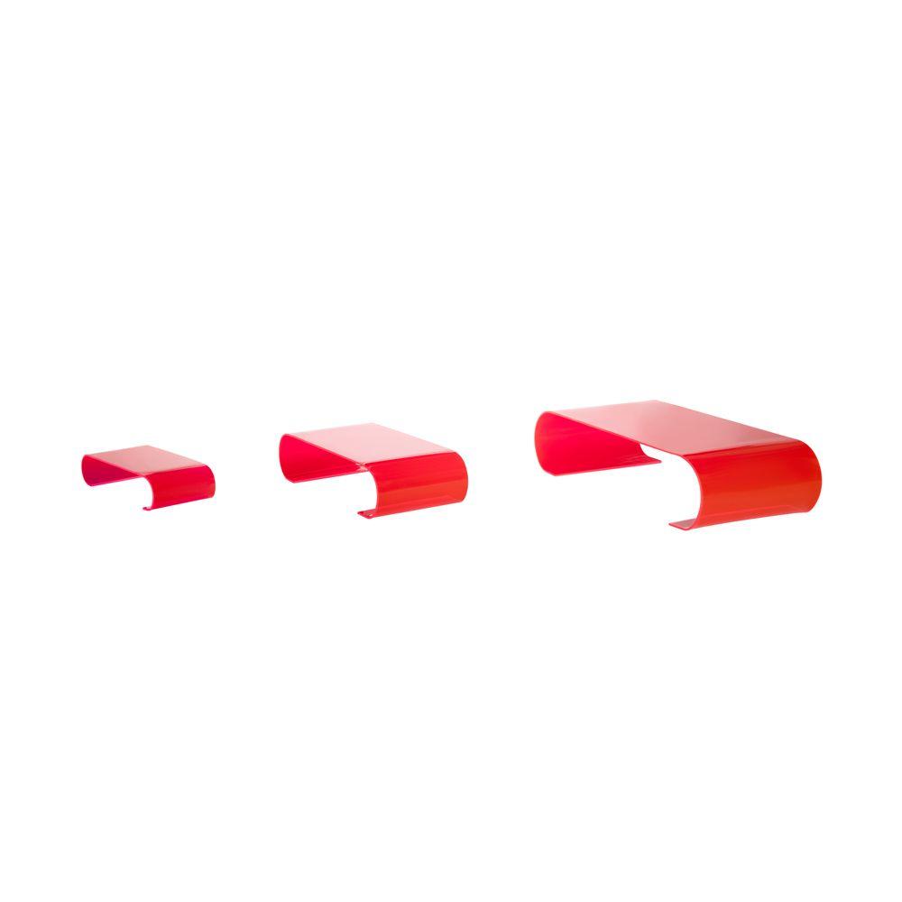Présentoirs de table 'Calamus' - Rouge - 10x40x20 cm - lot de 3