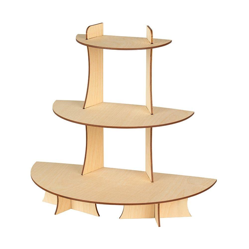 Présentoir 'Nerine' en bois - 3 étages - 40x38x20 cm