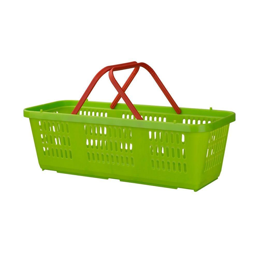 Mini-panier - pour vos petites courses – 2 poignées – Vert clair - Lot de 5