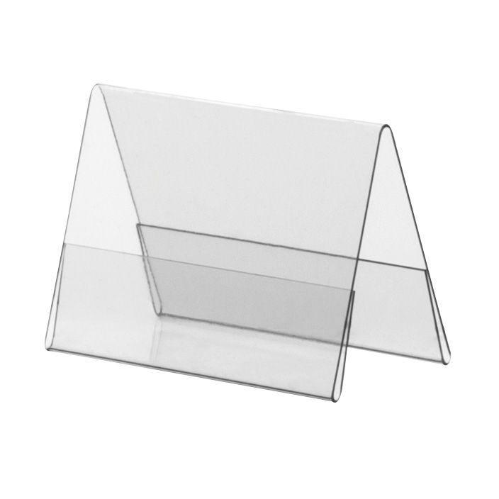 Porte-visuel PVC rigide – Transparent – A9 – Paysage - Lot de 10