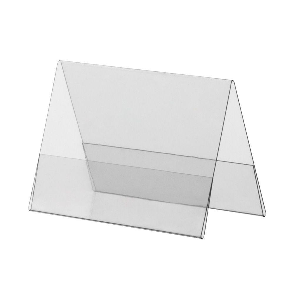 Porte-visuel PVC rigide – Transparent – A8 – Paysage - Lot de 10