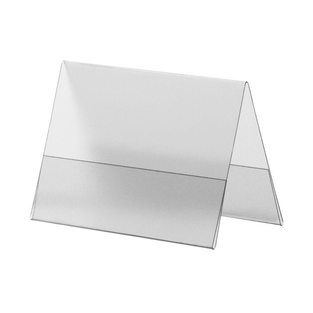 Porte-visuel PVC rigide –Transparent antireflet – A8 – Paysage - Lot de 10