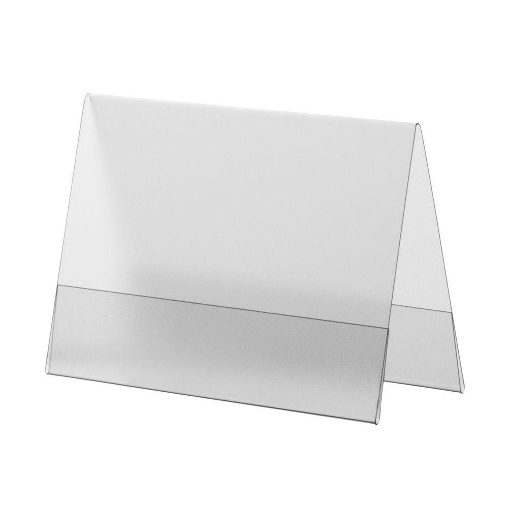 Porte-visuel PVC rigide –Transparent antireflet – A7 – Paysage - Lot de 10