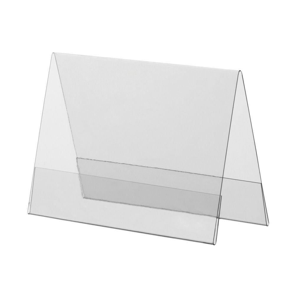 Porte-visuel PVC rigide – Transparent – A7 – Paysage - Lot de 10