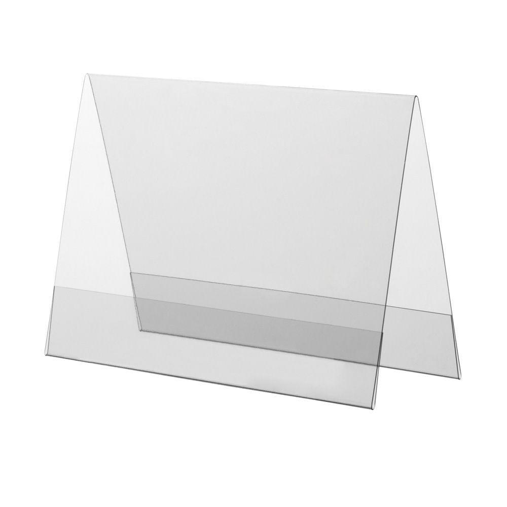 Porte-visuel PVC rigide – Transparent – A6 – Paysage - Lot de 10