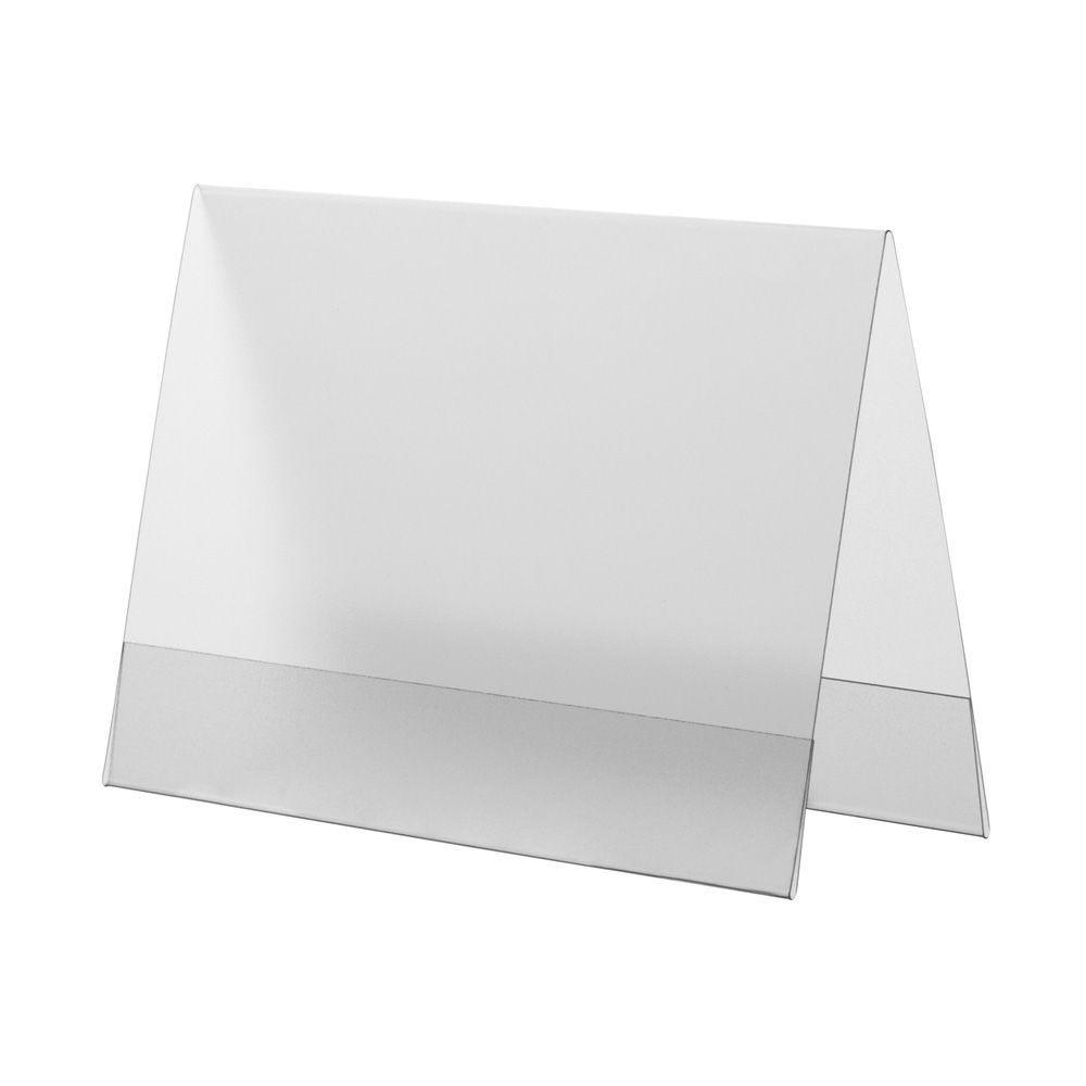 Porte-visuel PVC rigide – Transparent antireflet – A6 – Paysage - Lot de 10