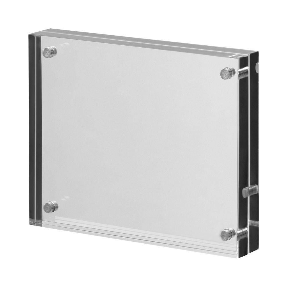 Cadre photo en verre acrylique 'Magnetica' pour cartes de visite