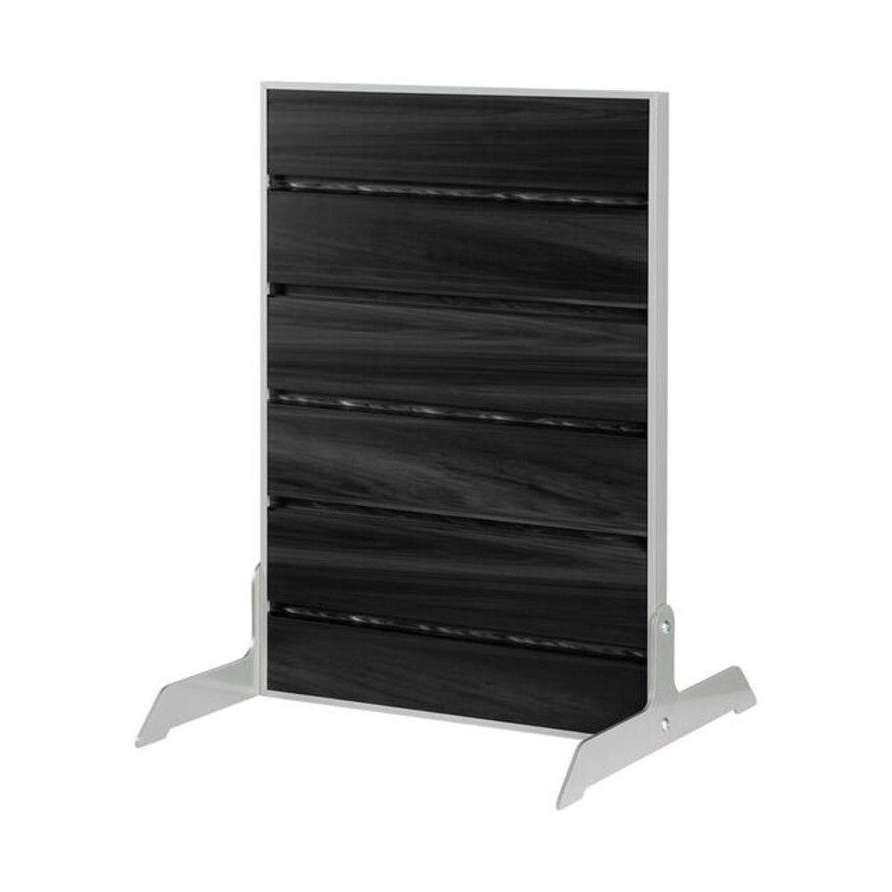 Présentoir de table FlexiSlot® - Noir – Simple face – 44 cm
