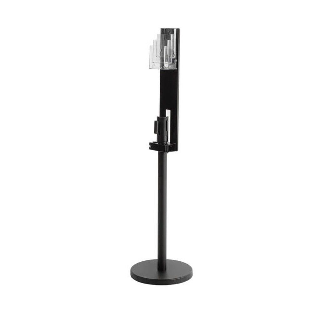 Porte-brochures 'Vicia' pour poteau de balisage–Métal-Noir–60 cm–1 face