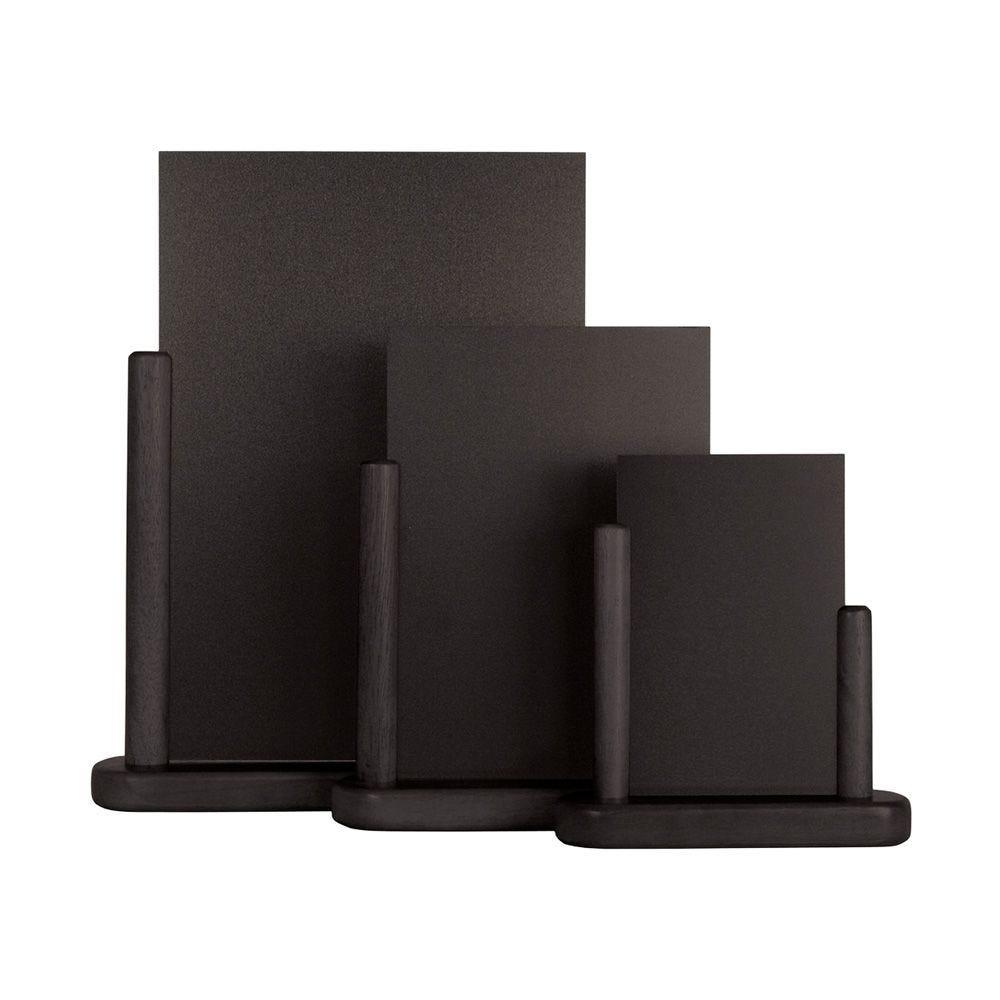 Ardoise de table ''elegant''<br>noir 100 x 150 mm