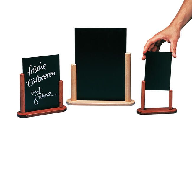 Ardoise de table ''elegant''<br>teck 150 x 210 mm
