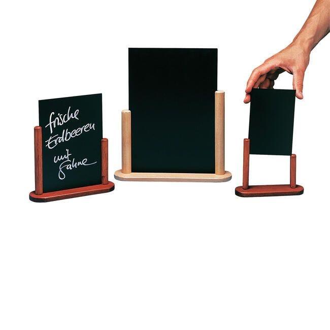Ardoise de table ''elegant''<br>teck 100 x 150 mm
