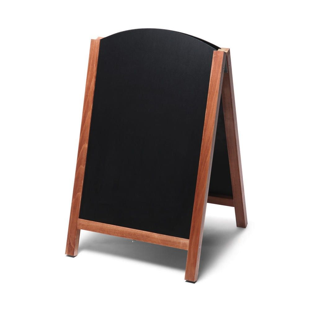 Chevalet ardoise avec fronton arrondi marron foncé 550 x 862 (photo)