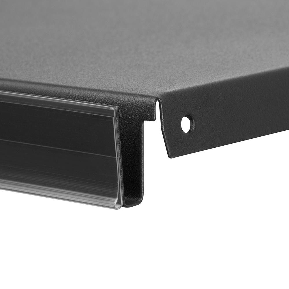 Réglette porte-étiquette ''dbr'' 73 mm blanc - longueur : 1000 mm - par 10 (photo)
