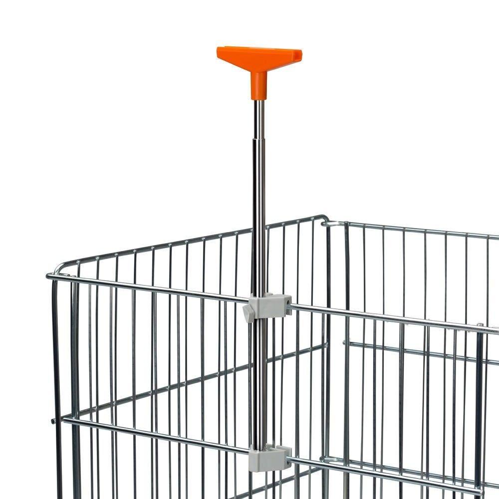 Porte-affiches ''dk'' orange avec tube telescopique - par 5
