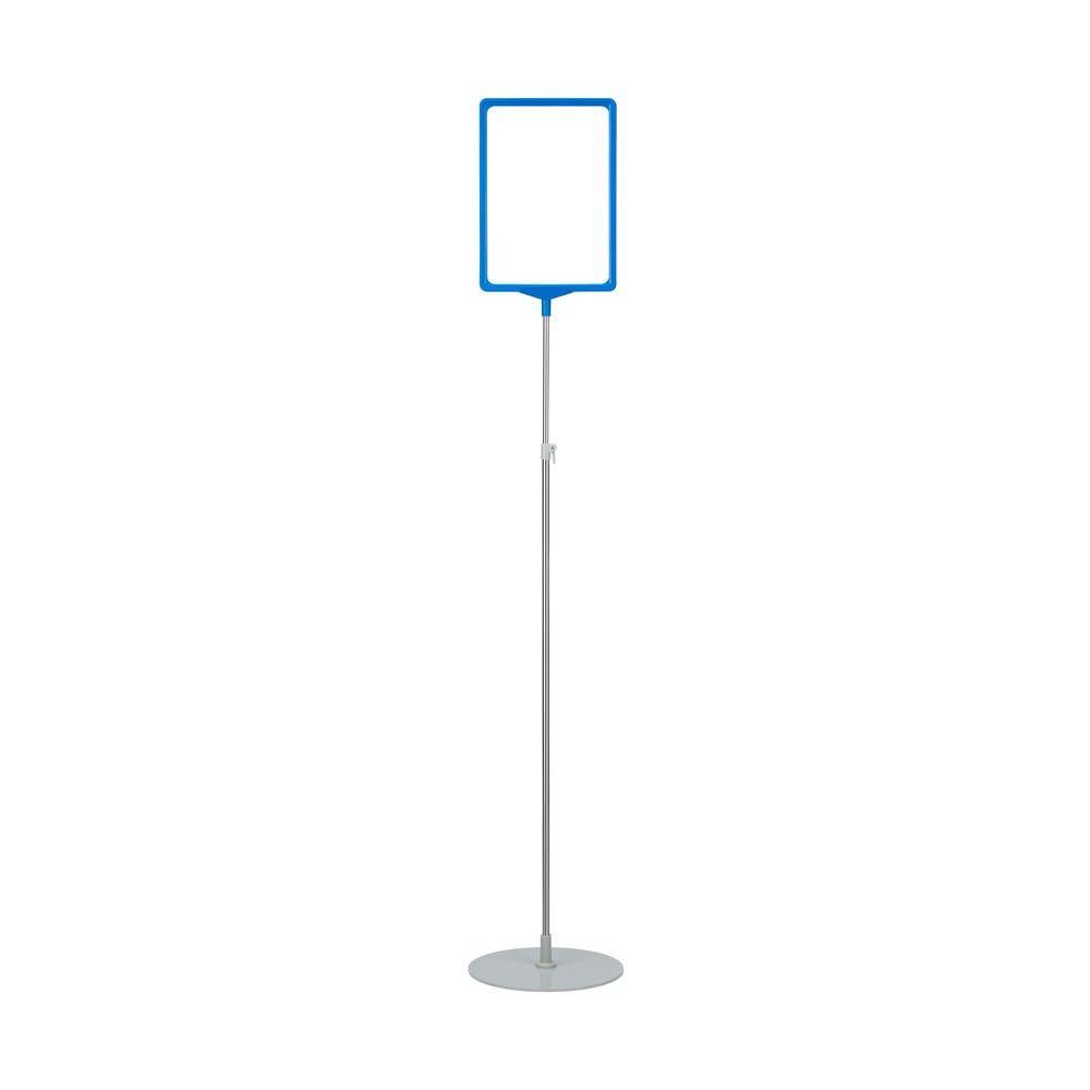 Porte-affiche avec pied télescopique ''maxi'' a3 bleu