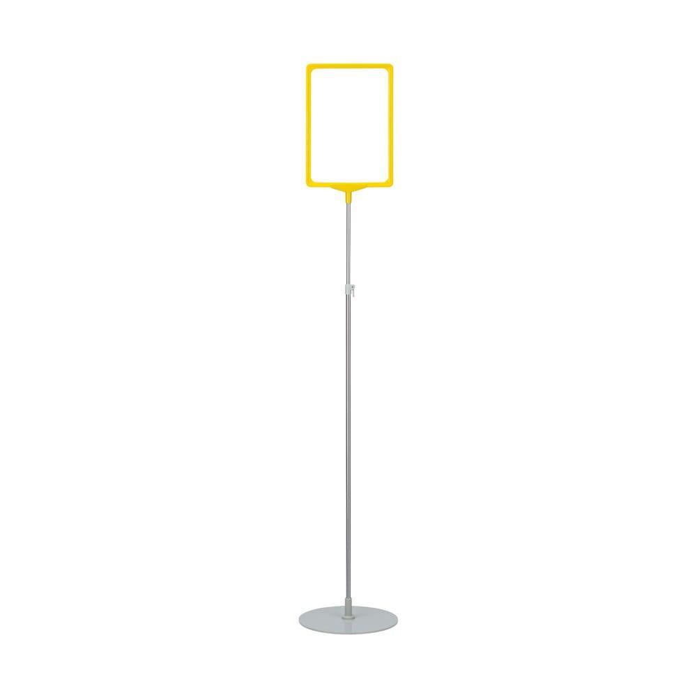Porte-affiche avec pied télescopique ''maxi'' a3 jaune