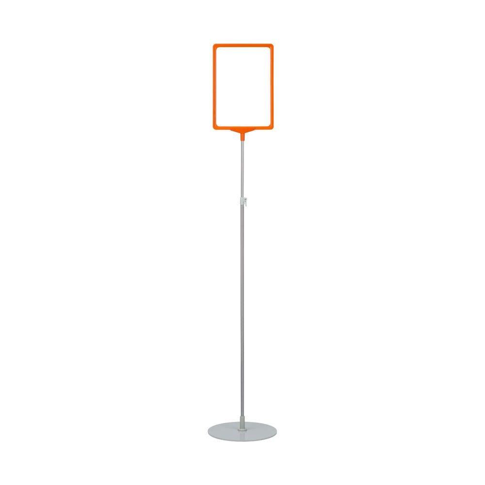 Porte-affiche avec pied télescopique ''maxi'' a3 orange
