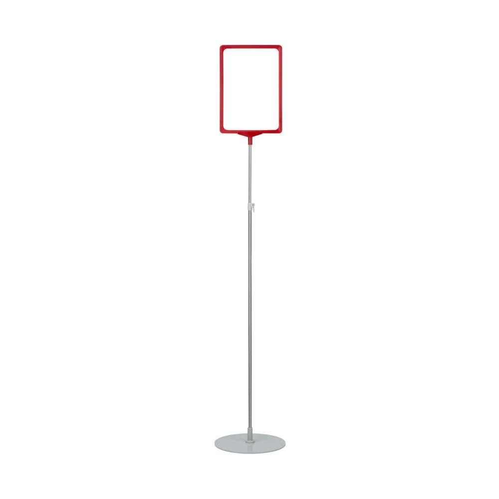 Porte-affiche avec pied télescopique ''maxi'' a3 rouge